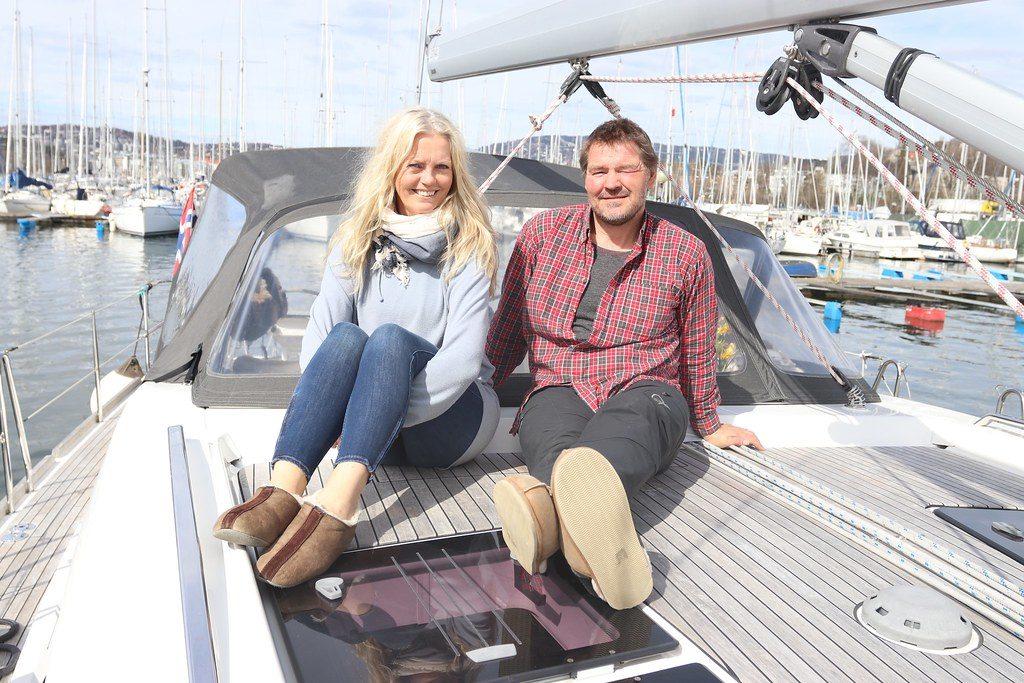 Espen og Hilde som bor i båt